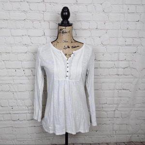 Eddie Bauer white lace detail tunic